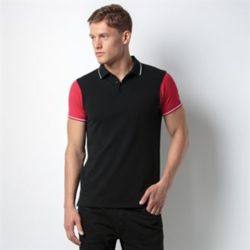 Contrast tipped polo (fashion fit) Thumbnail