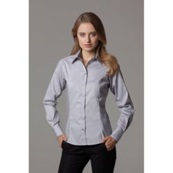 Women's contrast premium Oxford shirt long-sleeved (tailored fit) Thumbnail